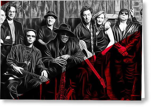 E Street Band Collection Greeting Card by Marvin Blaine