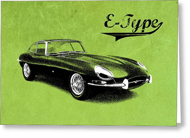 T Shirts Greeting Cards - E-Type Greeting Card by Mark Rogan