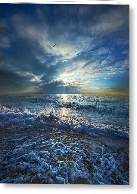 Life Line Greeting Cards - Each Changing Place With That Which Goes Before Greeting Card by Phil Koch