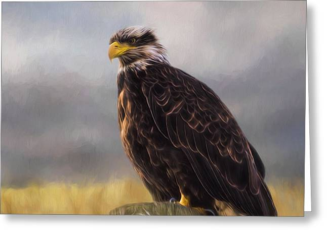 Eagle Art - Be Who You Are Greeting Card by Jordan Blackstone