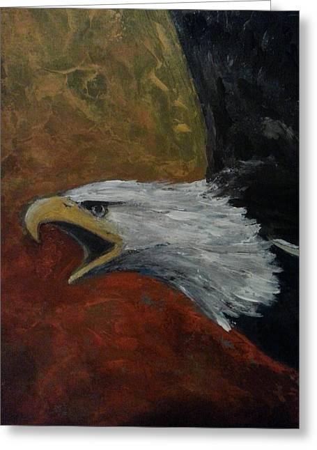 Eagle - Awaken Greeting Card by Jane See