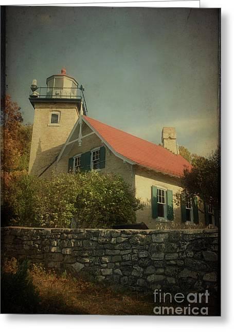 Eagle Bluff Lighthouse Greeting Cards - Eagle Bluff Lighthouse Greeting Card by Joel Witmeyer
