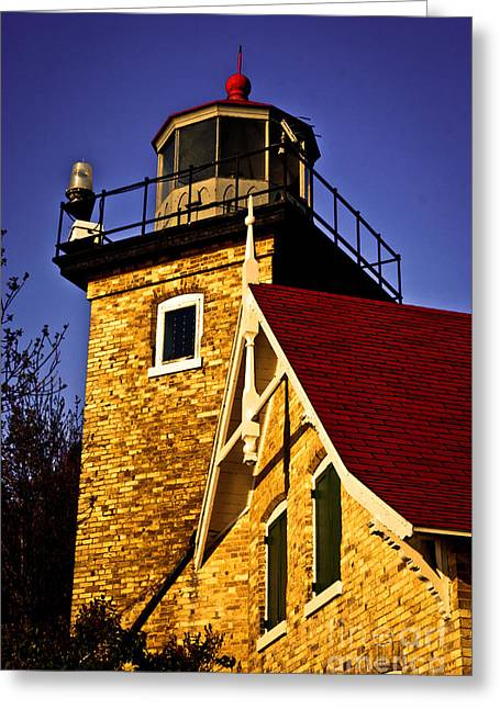 Eagle Bluff Lighthouse Greeting Cards - Eagle Bluff Lighthouse of Door County Greeting Card by Shutter Happens Photography