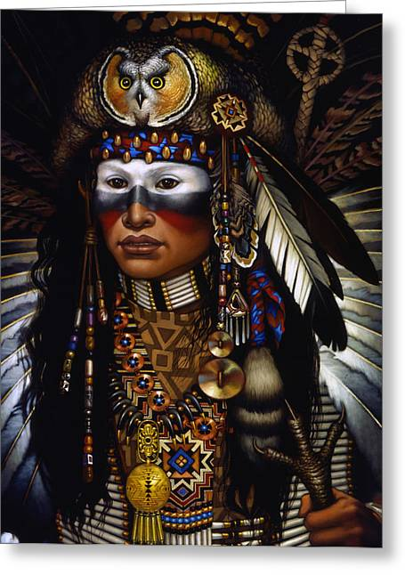 Tribal Greeting Cards - Eagle Claw Greeting Card by Jane Whiting Chrzanoska