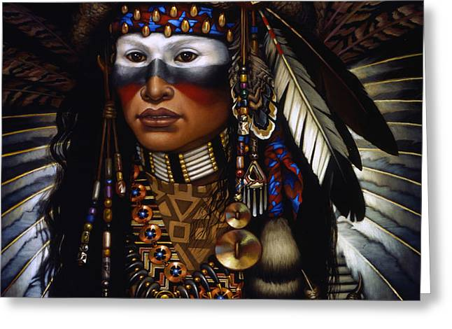Eagle Claw Greeting Card by Jane Whiting Chrzanoska