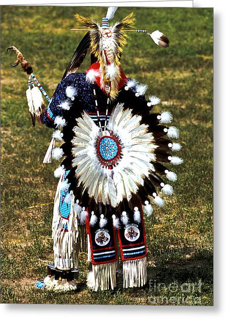 Oglala Greeting Cards - Eagle Feathers Greeting Card by Chris  Brewington Photography LLC
