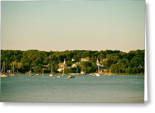 Sailboat Photos Greeting Cards - Eagle Harbor - Ephraim Wisconsin Greeting Card by Citynoise