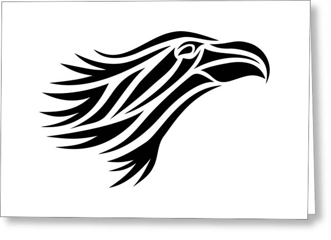 Flying Animal Greeting Cards - Eagle Head Greeting Card by Marv Vandehey