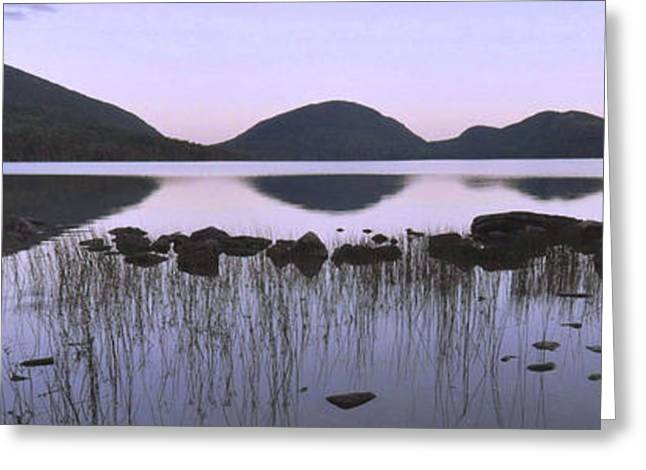 Maine Lake Greeting Cards - Eagle Lake Twilight Reflections Greeting Card by Stephen  Vecchiotti