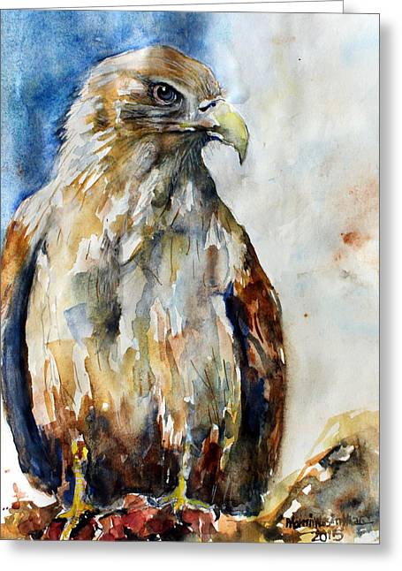 Hunting Bird Greeting Cards - Eagle. Greeting Card by Momin Khan
