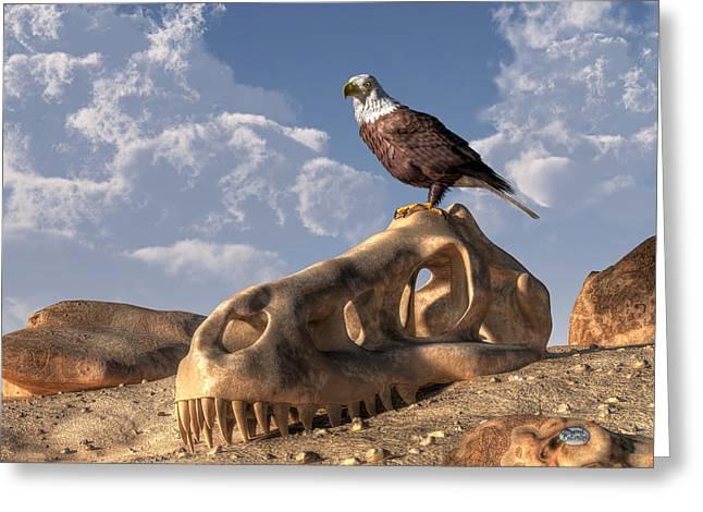 Eagle Rex Greeting Card by Daniel Eskridge