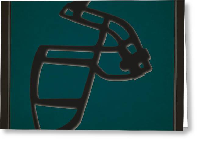 Philadelphia Eagles Greeting Cards - Eagles Face Mask Greeting Card by Joe Hamilton