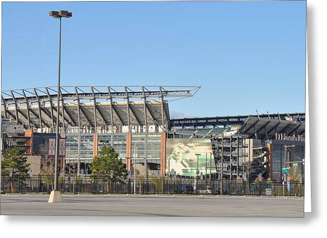 Philadelphia Phillies Stadium Digital Greeting Cards - Eagles Football Stadium - The Linc Greeting Card by Bill Cannon