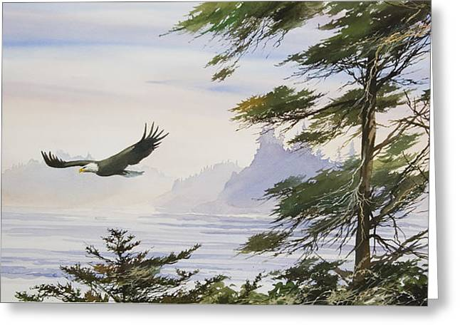 Eagle's Shore Greeting Card by James Williamson