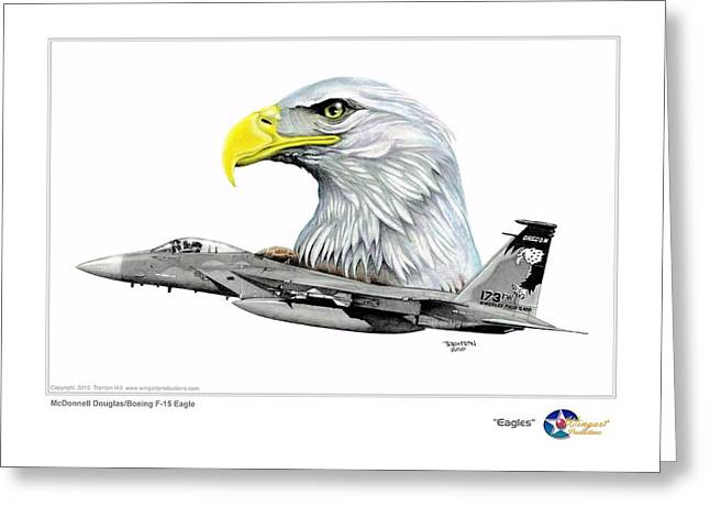National Guard Mixed Media Greeting Cards - Eagles Greeting Card by Trenton Hill