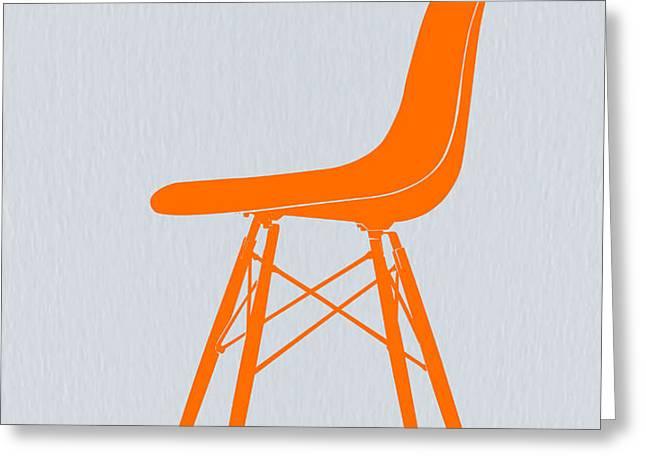 Eames Fiberglass Chair Orange Greeting Card by Naxart Studio