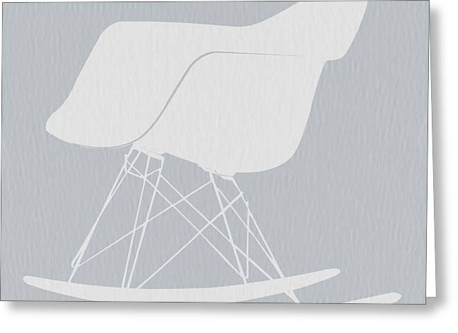 Eames Rocking Chair Greeting Card by Naxart Studio
