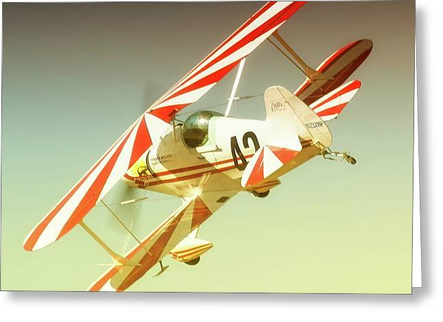Reno Air Races Greeting Cards - Earl Allen and Pitts Race 42 The Other Woman Greeting Card by Gus McCrea