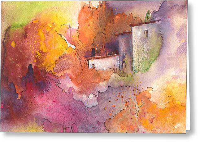 Watercolour Pastels Greeting Cards - Early Afternoon 03 Greeting Card by Miki De Goodaboom