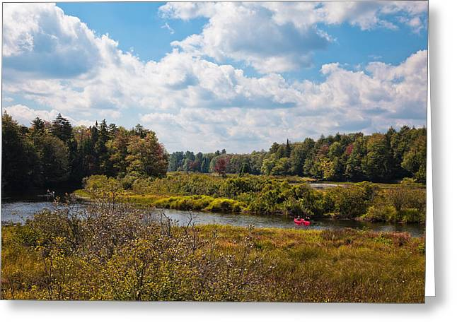 Early Autumn At The Tobie Trail Bridge Greeting Card by David Patterson