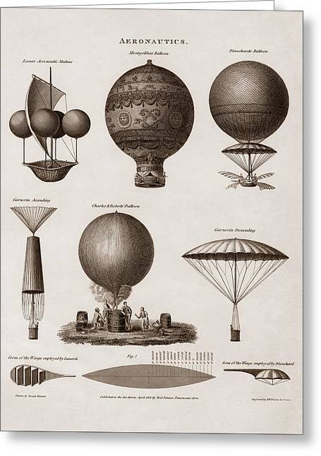 Early Balloon Designs Greeting Card by War Is Hell Store