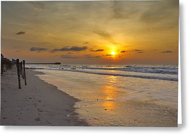 Ocean Images Greeting Cards - Early Beginning at the Beach Greeting Card by Brian Hamilton
