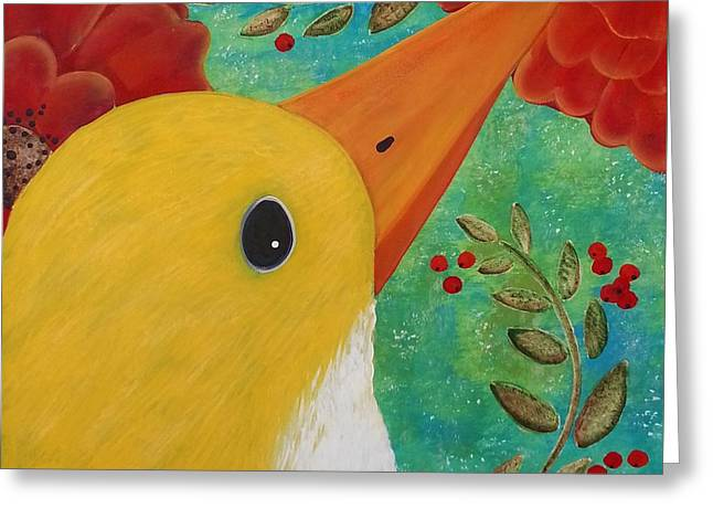 Early Bird Greeting Card by Clover Moon Designs Peggy Sowers-Heckman