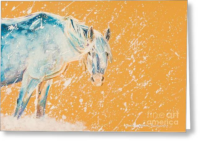 Joni Greeting Cards - Early Blizzard Greeting Card by Joni Beinborn