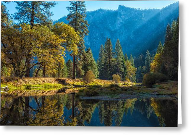 Water Flowing Greeting Cards - Early Fall Greeting Card by Jonathan Nguyen