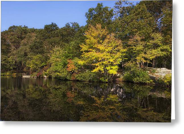 Rocks Greeting Cards - Early Fall Reflections On The Connecticut River Greeting Card by Mountain Dreams