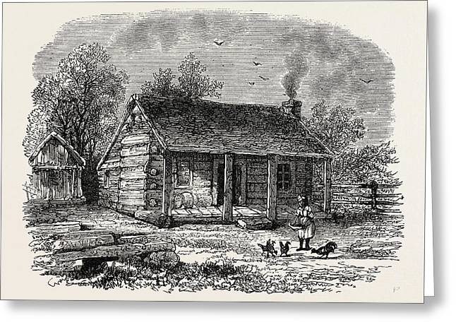 Early Home Of Abraham Lincoln Greeting Card by American School