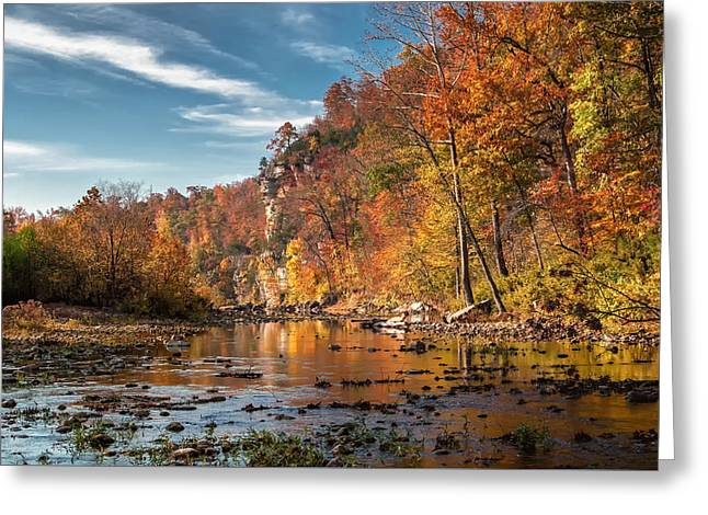 Arkansas Greeting Cards - Early Light on the Buffalo River Greeting Card by James Barber