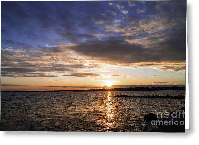 Renewing Greeting Cards - Early May Sunset 2 Greeting Card by Joe Geraci