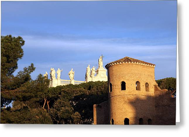 Church Photos Greeting Cards - Early Morning 7AM Greeting Card by Munir Alawi