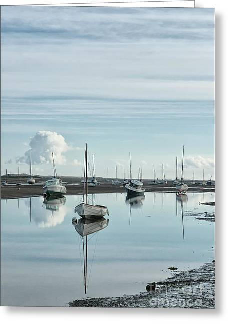 Early Morning At Brancaster Staithe Norfolk Uk Greeting Card by John Edwards