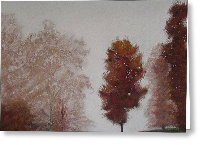 Haze Pastels Greeting Cards - Early Morning Calm Greeting Card by Harvey Rogosin