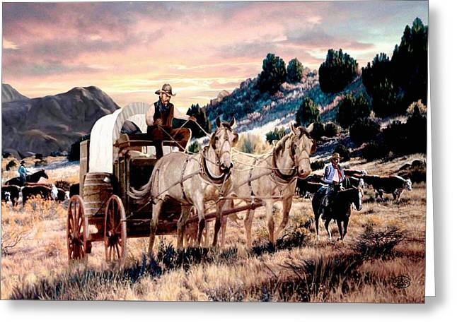 Early Morning Drive Greeting Card by Ron Chambers