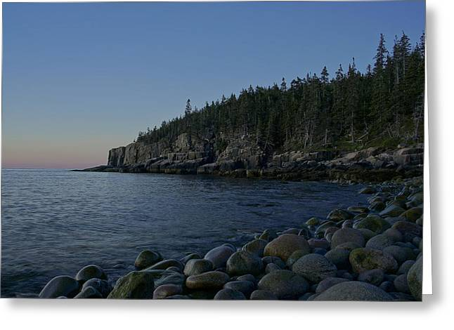 Exposure Greeting Cards - Early Morning in Acadia Greeting Card by Brian Kamprath