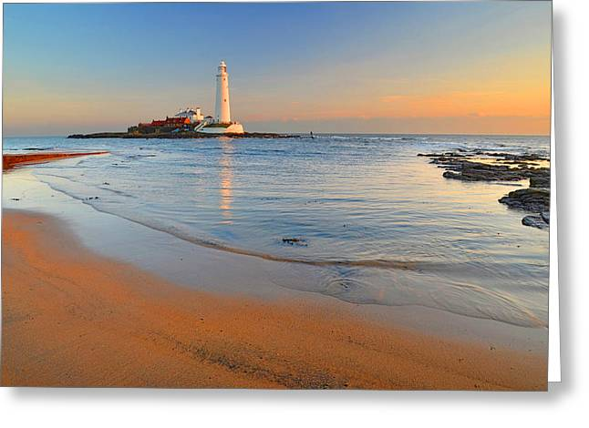 Recently Sold -  - North Sea Greeting Cards - Early Morning Greeting Card by Michael Oakes