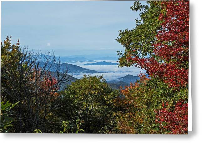 Haze Greeting Cards - Early Morning Mountains Greeting Card by James Fowler