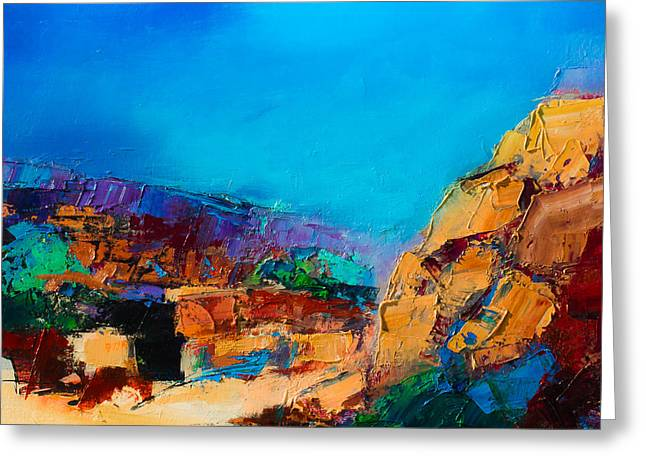 Early Morning Over The Canyon Greeting Card by Elise Palmigiani