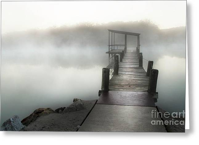 Early Morning Pier Greeting Card by Tamyra Ayles