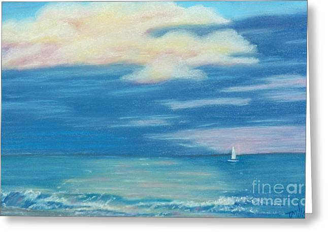 Terri Waters Paintings Greeting Cards - Early Morning Sailing Greeting Card by Terri Mills