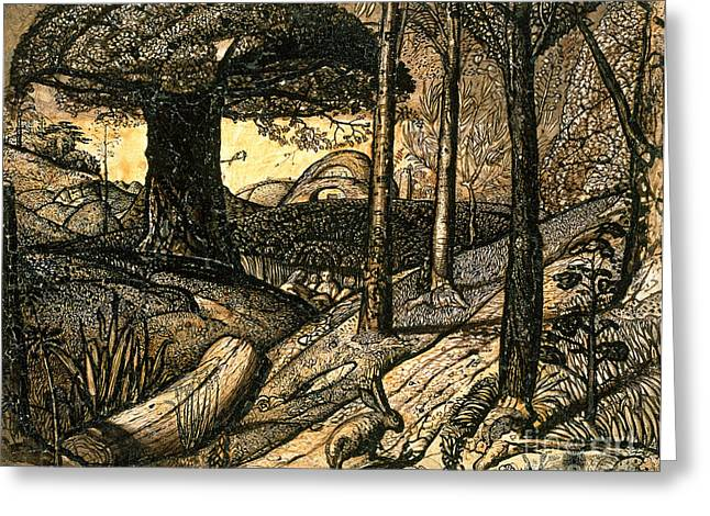 Early Greeting Cards - Early Morning Greeting Card by Samuel Palmer