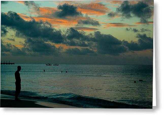 Pondering Greeting Cards - Early Morning Sea Greeting Card by Douglas Barnett