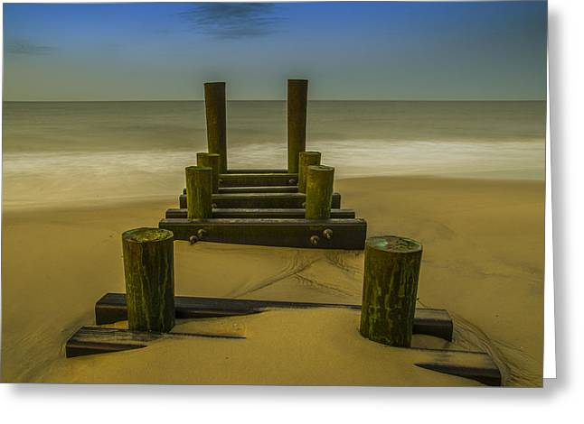 Ocean Photography Drawings Greeting Cards - Early Morning Seascape - Cape May Greeting Card by Bill Cannon