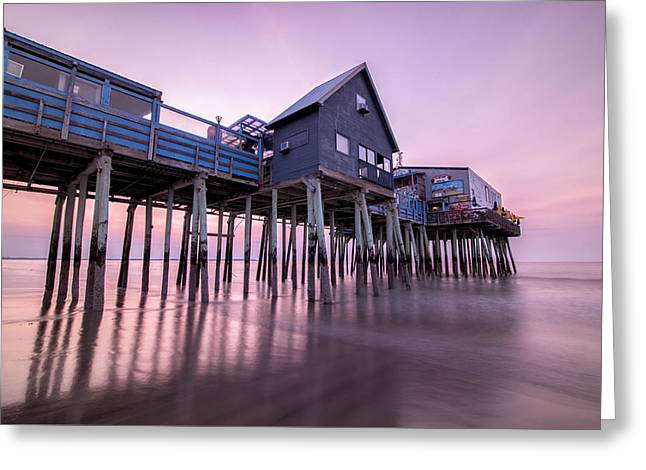 Maine Ocean Greeting Cards - Early Morning Serenity Greeting Card by Benjamin Kelley