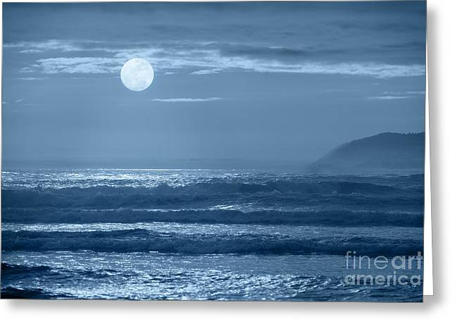 Moon Beach Photographs Greeting Cards - Early  Morning Splendor Greeting Card by Sandra Bronstein