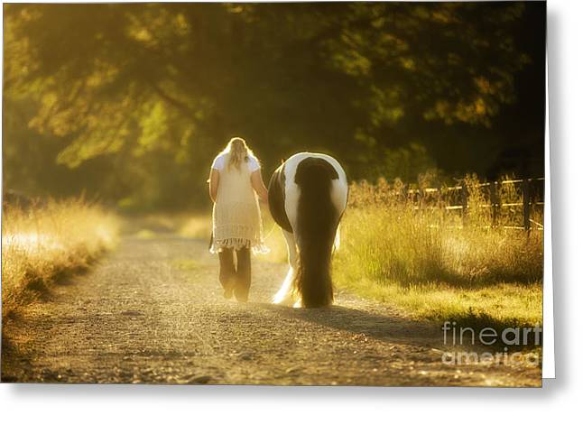 Gypsy Greeting Cards - Early Morning Stroll Greeting Card by Joan Bush