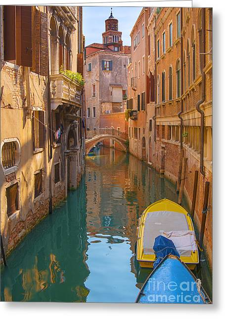 Venezia Greeting Cards - Early Morning Stroll Greeting Card by Marco Crupi